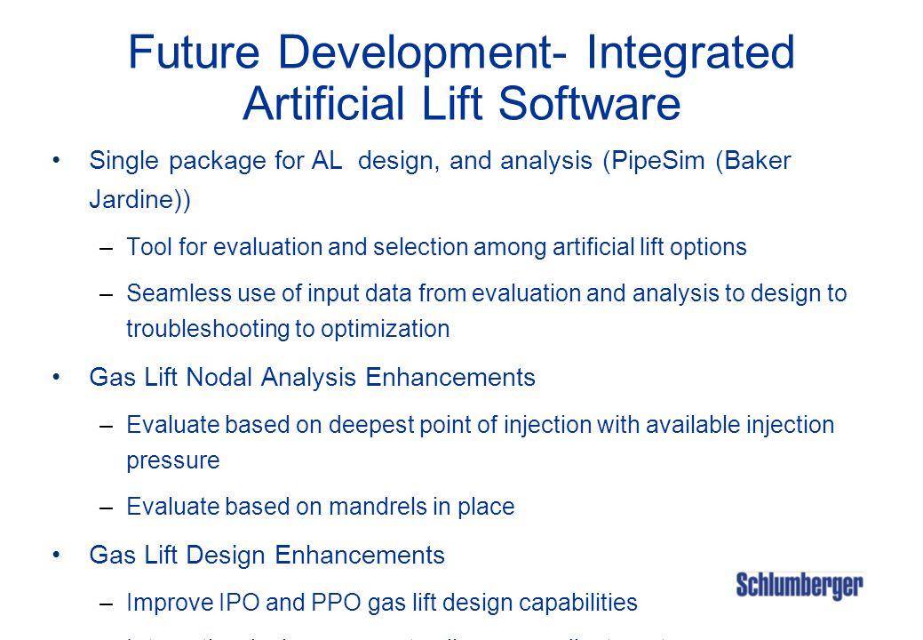 Future Development- Integrated Artificial Lift Software