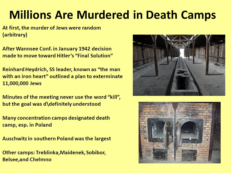 Millions Are Murdered in Death Camps
