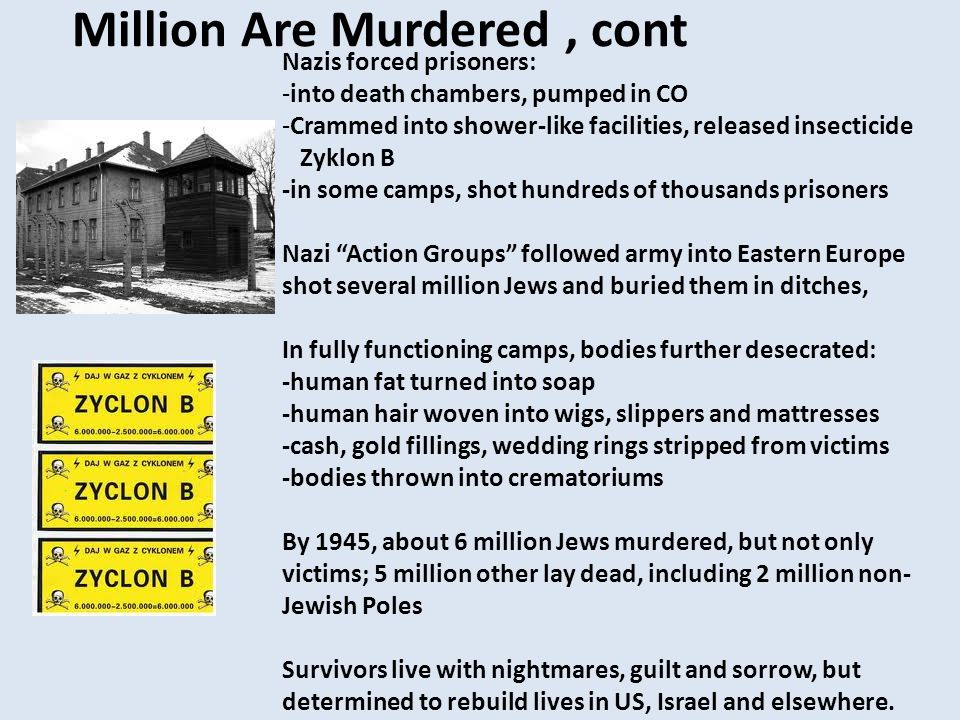 Million Are Murdered , cont