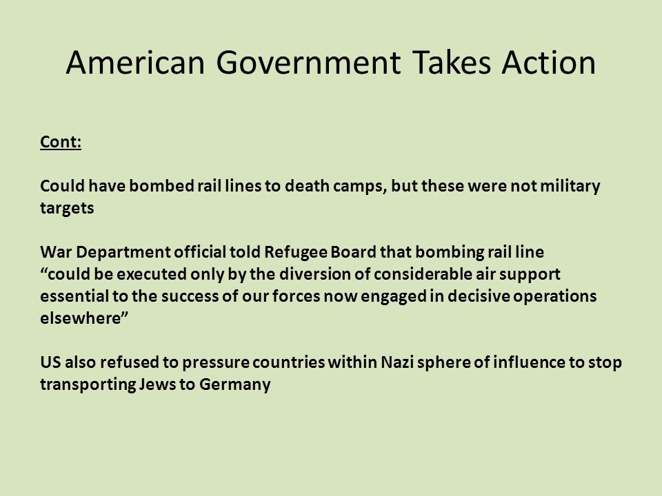 American Government Takes Action