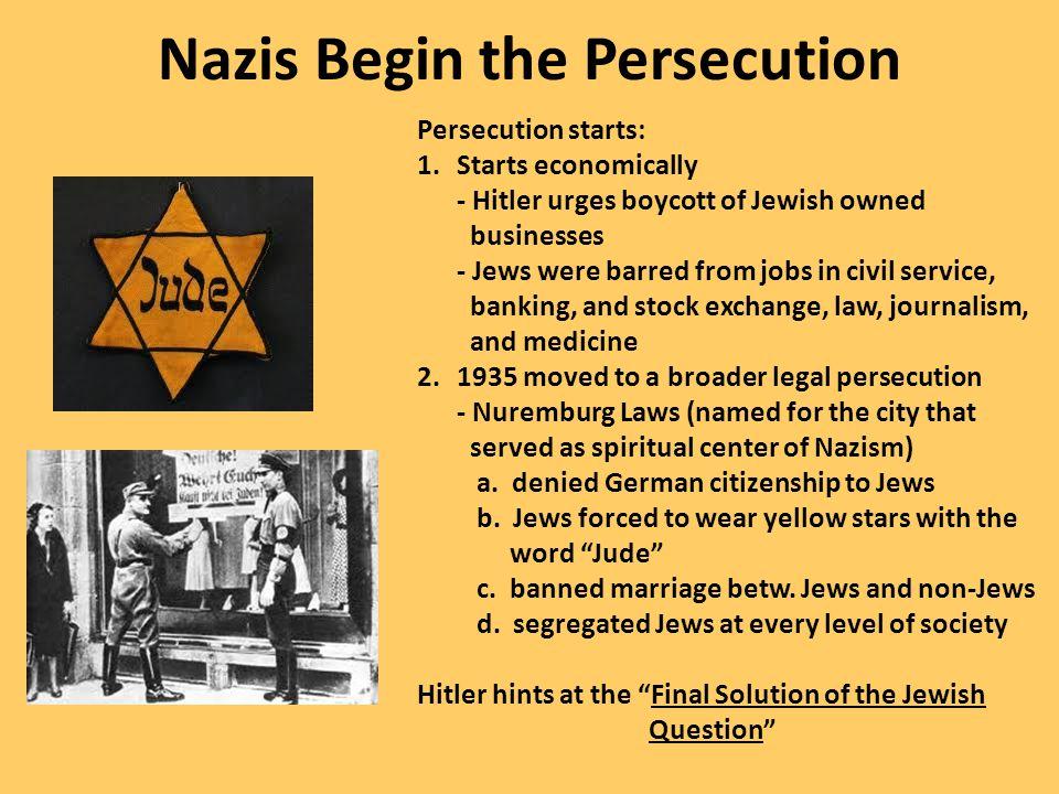 Nazis Begin the Persecution