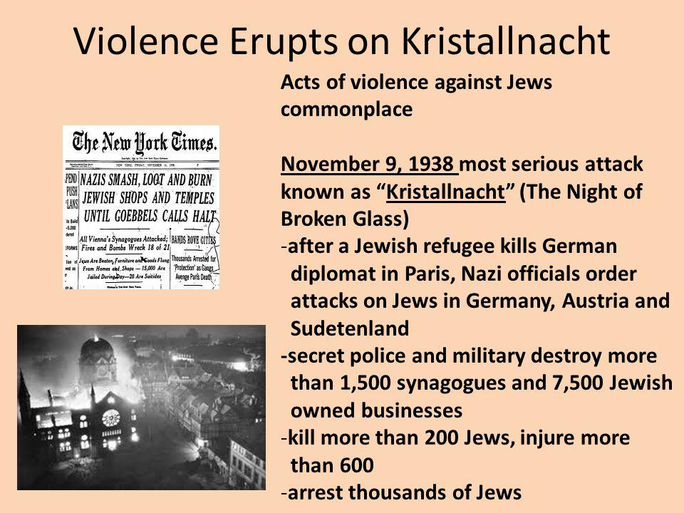 Violence Erupts on Kristallnacht
