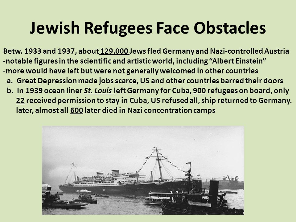 Jewish Refugees Face Obstacles