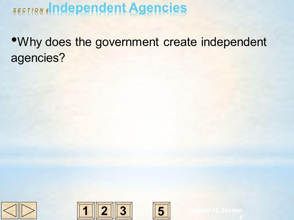 S E C T I O N 4Independent Agencies