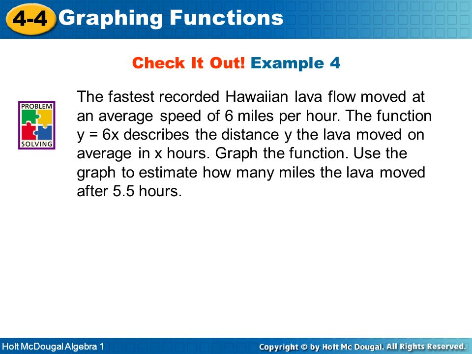 4-4 Graphing Functions Check It Out! Example 4