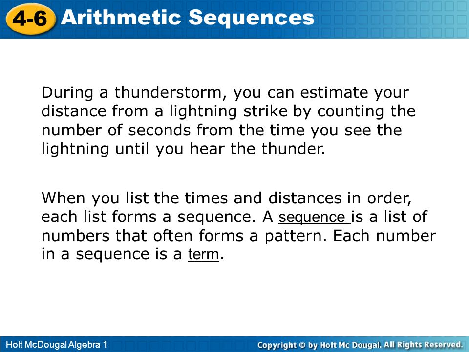 4-6 Arithmetic Sequences