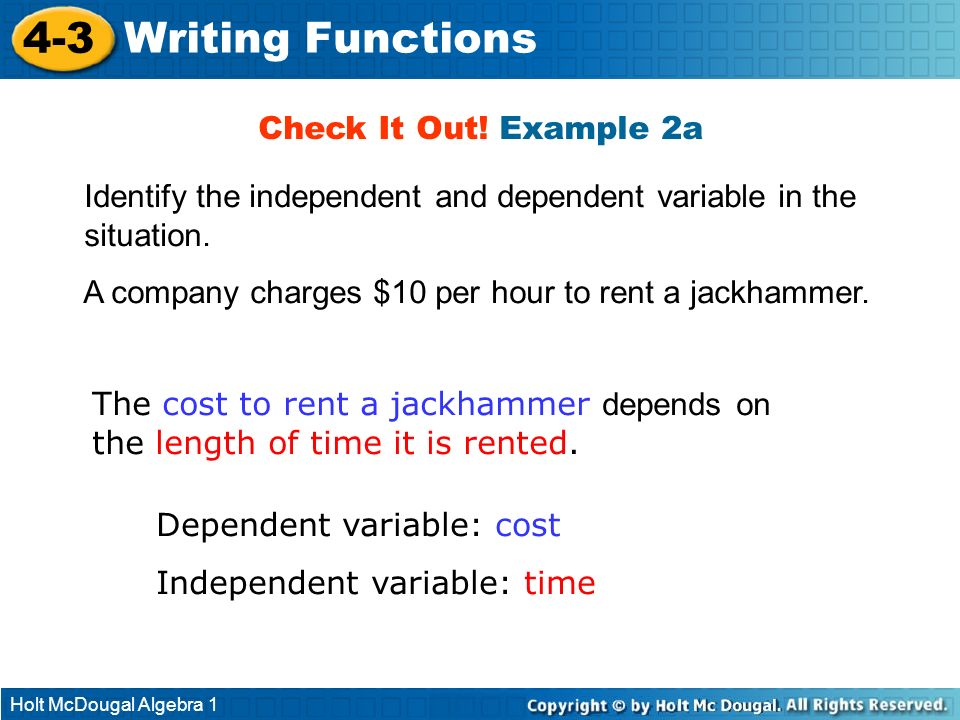 4-3 Writing Functions Check It Out! Example 2a