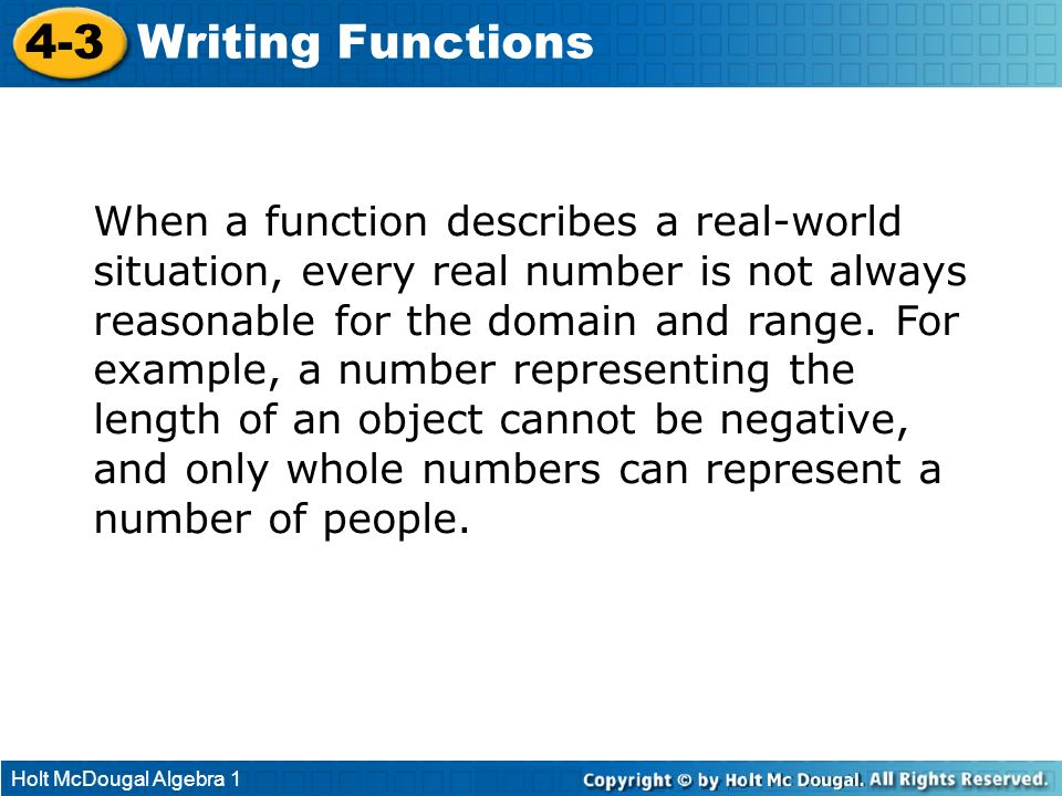 4-3 Writing Functions.