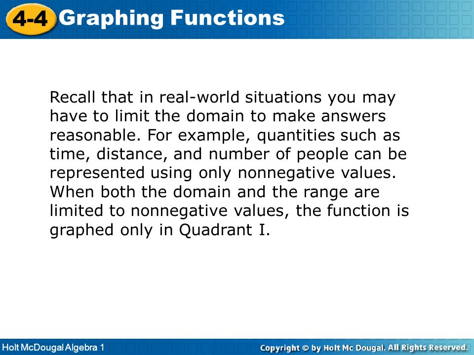 4-4 Graphing Functions.