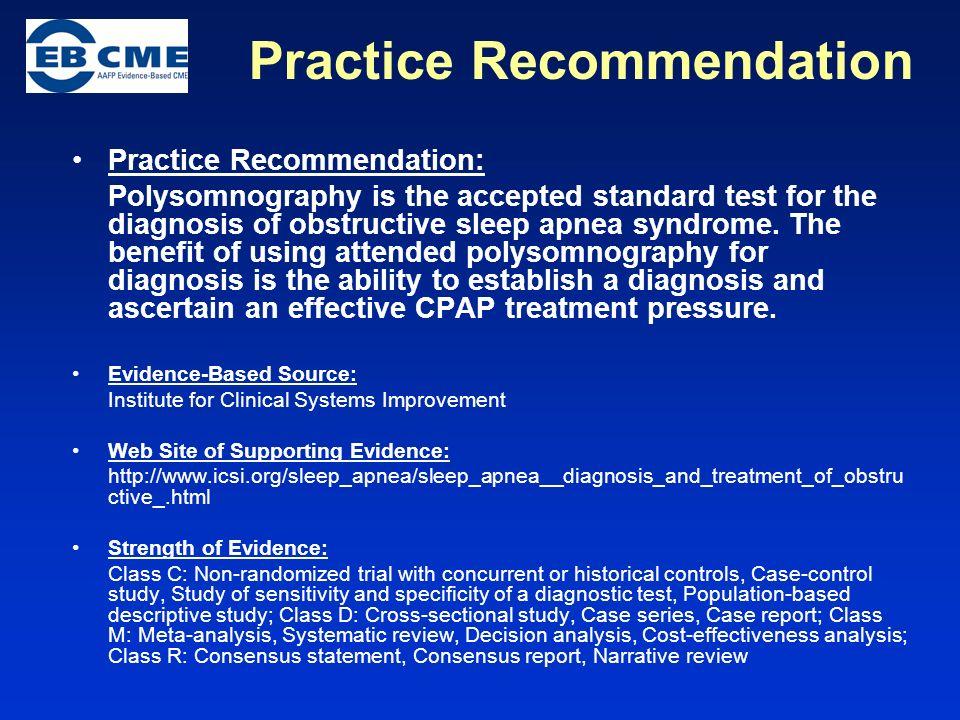 Practice Recommendation