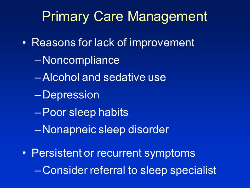 Primary Care Management