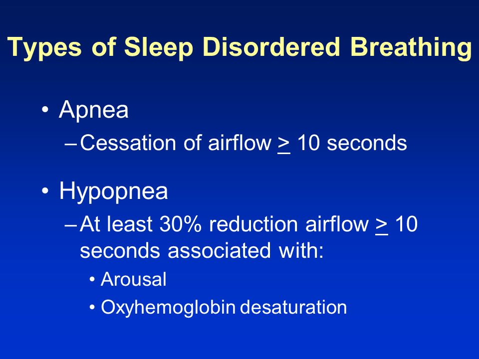 Types of Sleep Disordered Breathing