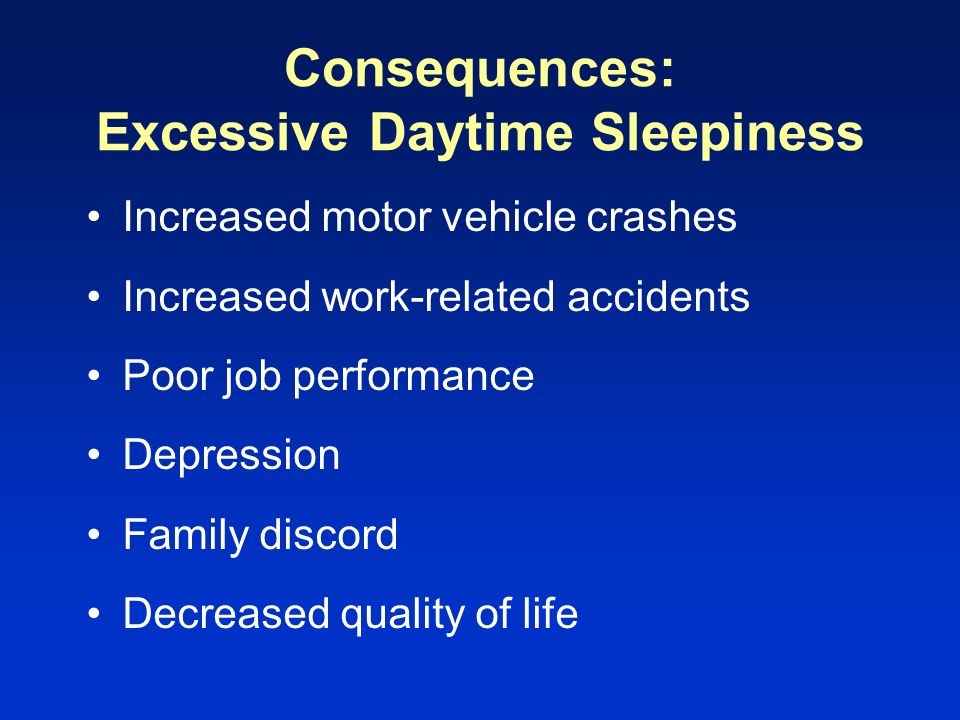 Consequences: Excessive Daytime Sleepiness