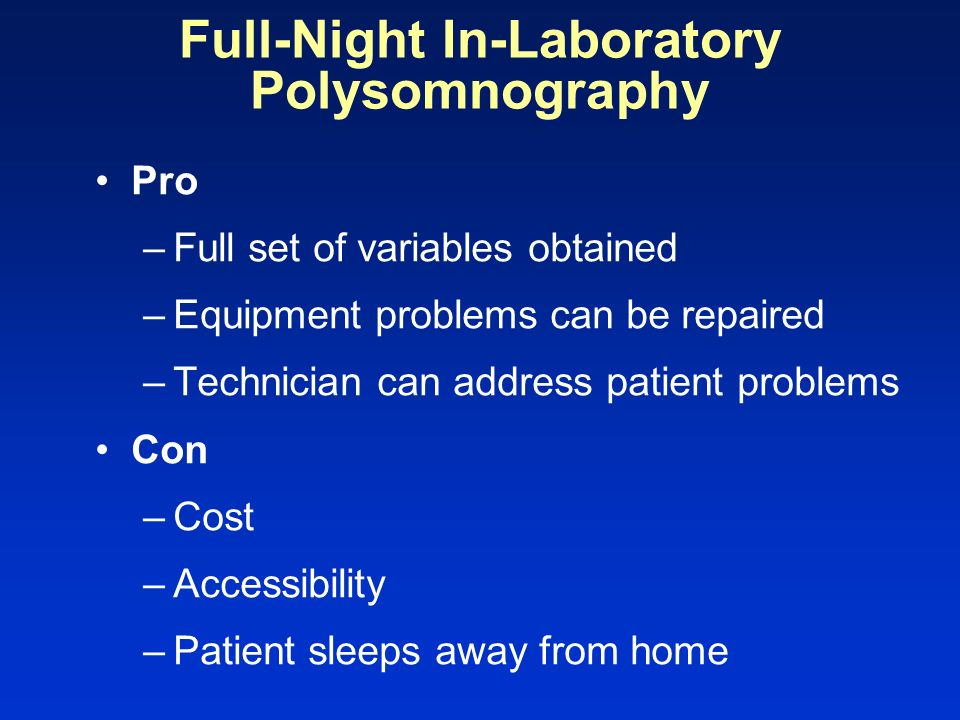 Full-Night In-Laboratory Polysomnography