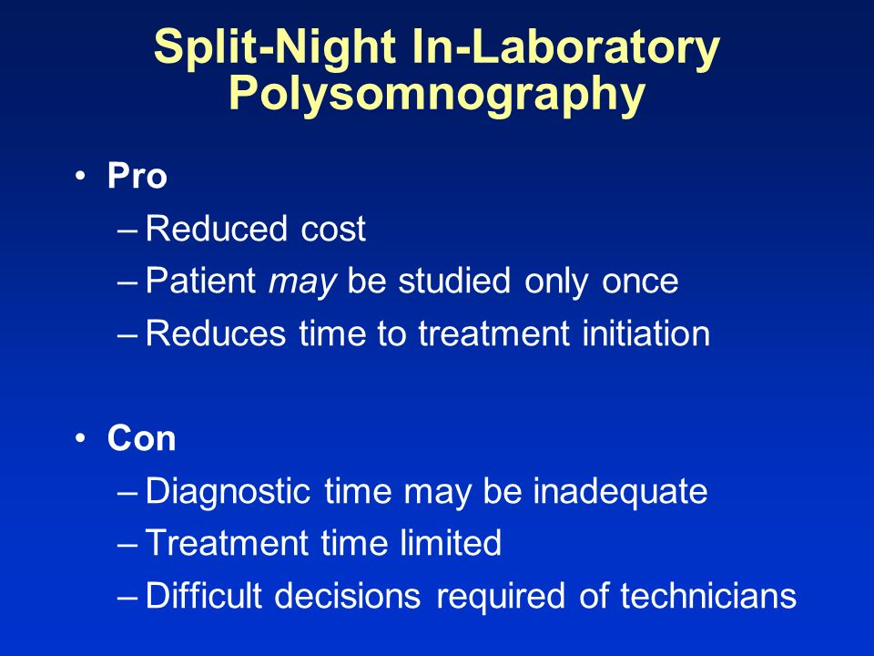 Split-Night In-Laboratory Polysomnography