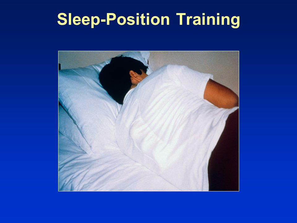 Sleep-Position Training