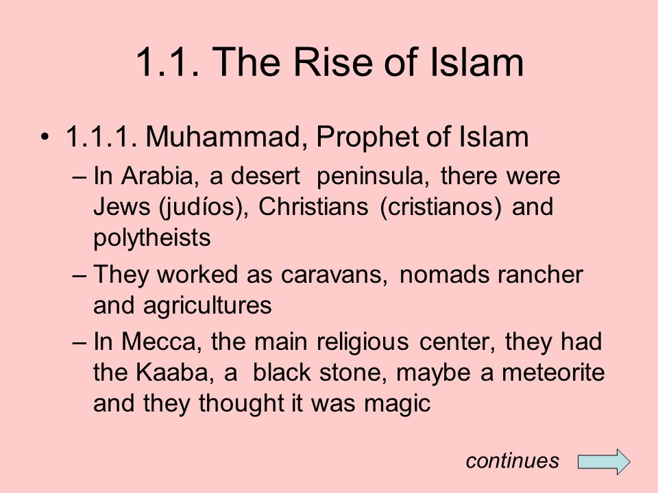 1.1. The Rise of Islam Muhammad, Prophet of Islam
