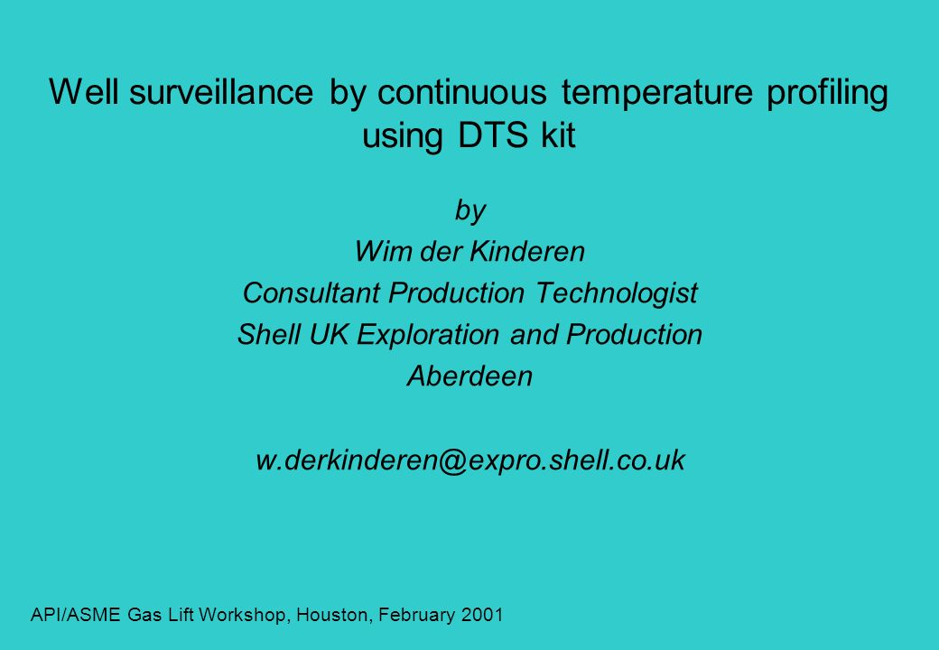 Well surveillance by continuous temperature profiling using DTS kit