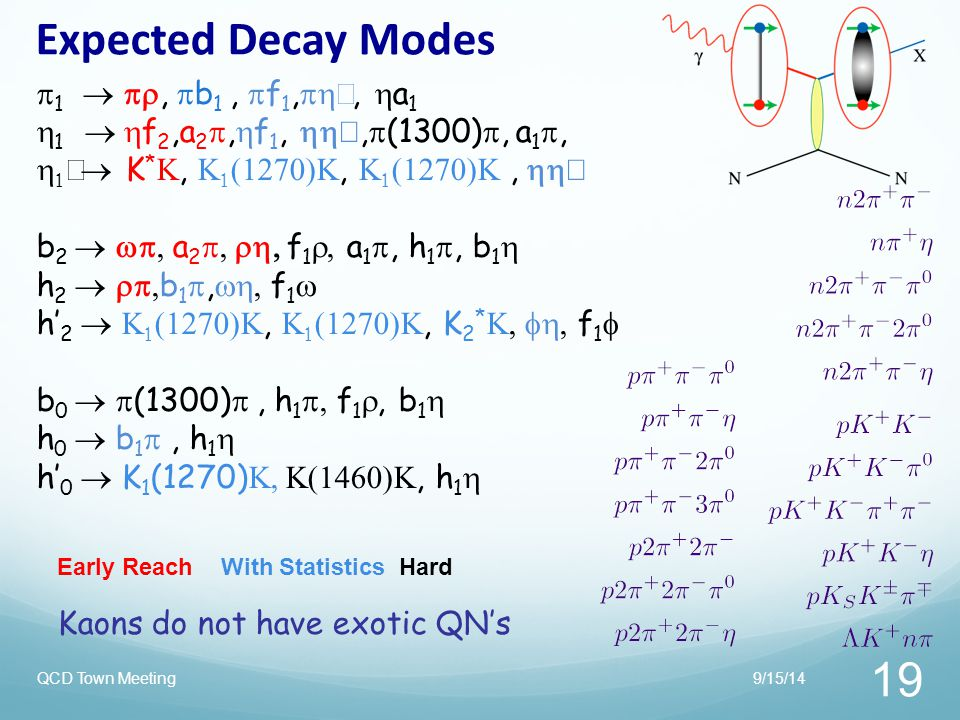 Expected Decay Modes 1  , b1 , f1,ph', a1