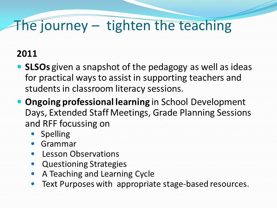 The journey – tighten the teaching
