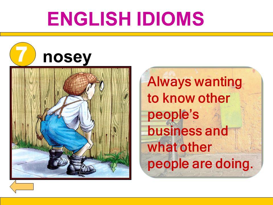 ENGLISH IDIOMSnosey.7.