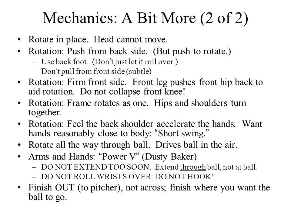 Mechanics: A Bit More (2 of 2)