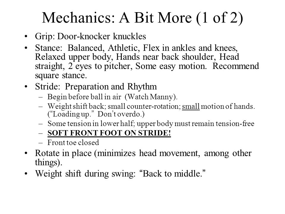 Mechanics: A Bit More (1 of 2)