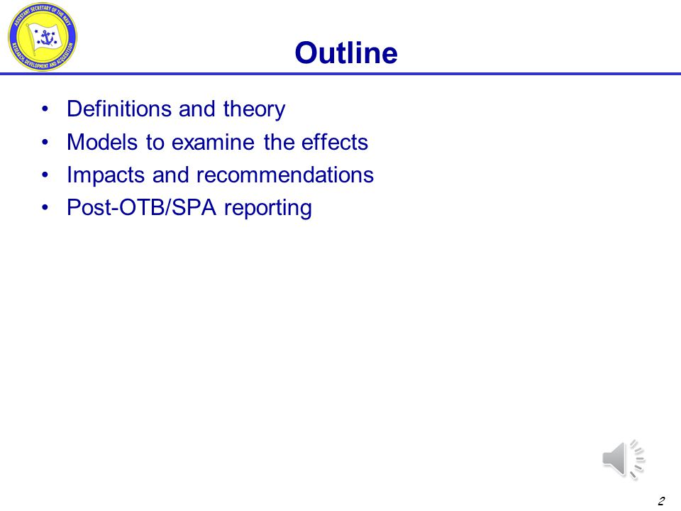 Outline Definitions and theory Models to examine the effects