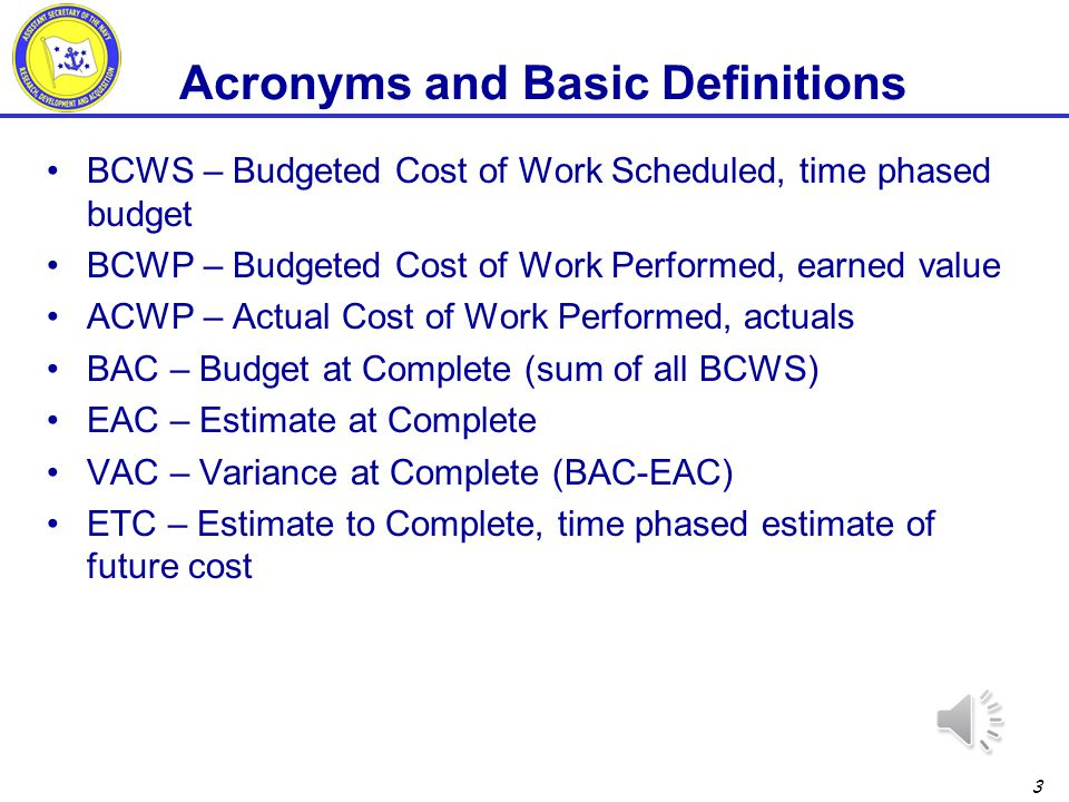 Acronyms and Basic Definitions