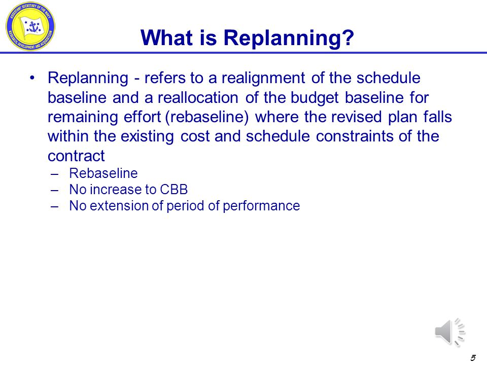 What is Replanning