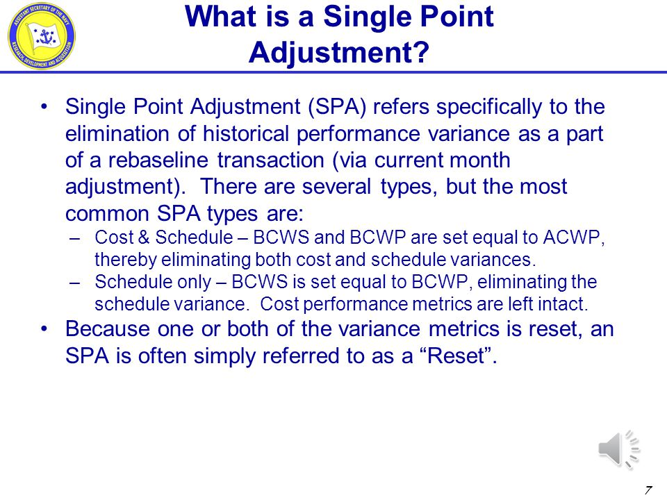 What is a Single Point Adjustment
