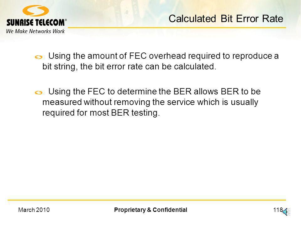 Calculated Bit Error Rate