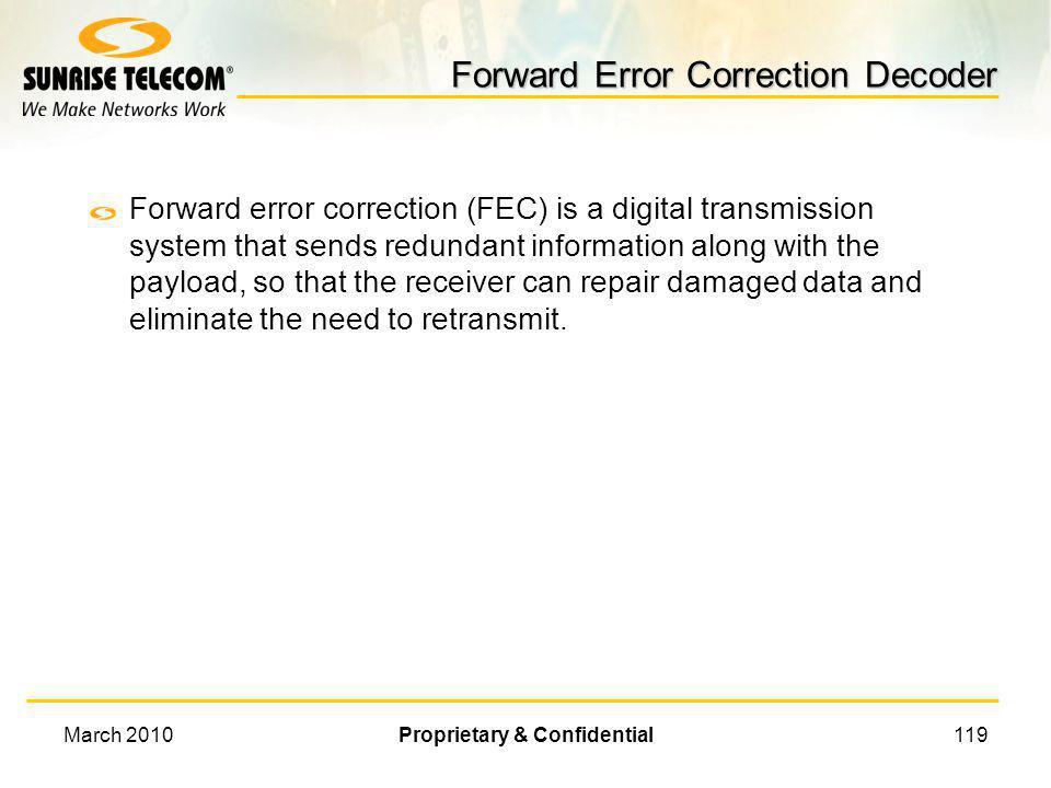 Forward Error Correction Decoder