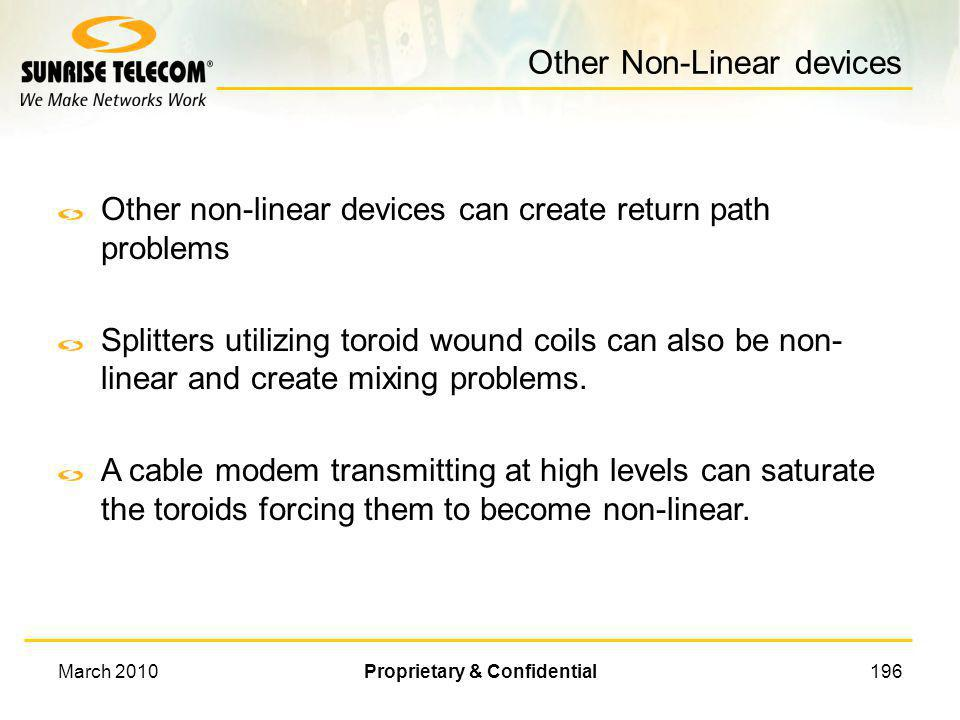 Other Non-Linear devices