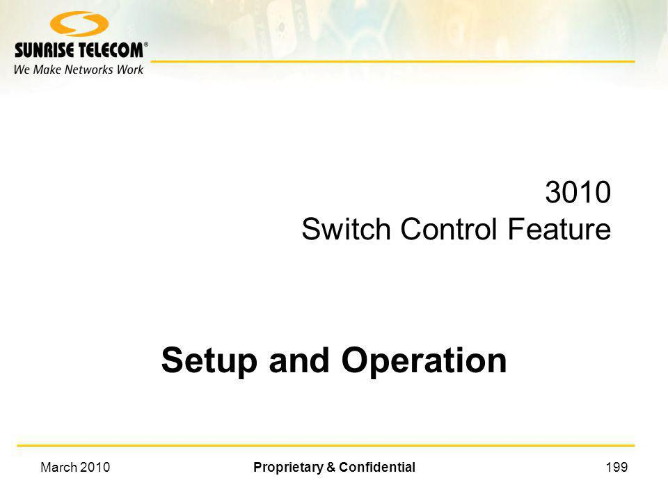 3010 Switch Control Feature