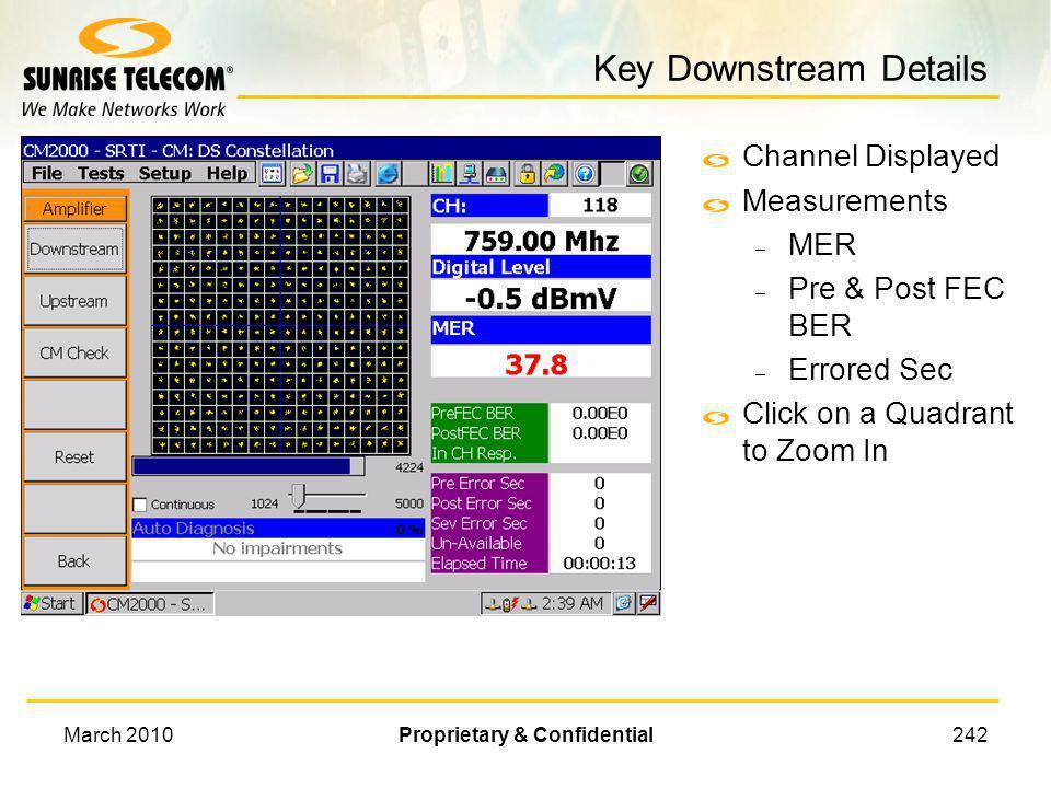 Key Downstream Details