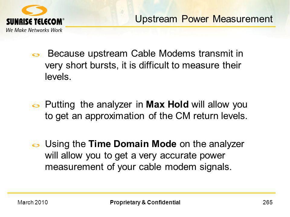 Upstream Power Measurement