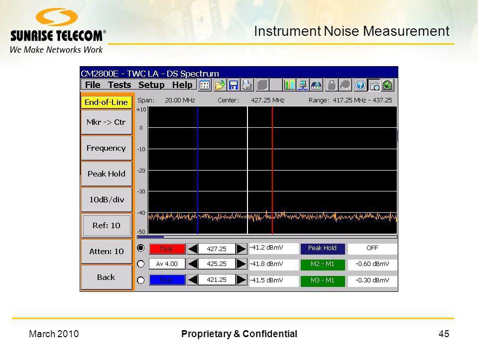 Instrument Noise Measurement