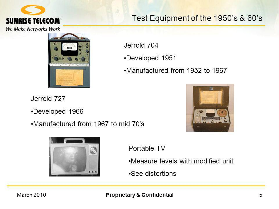 Test Equipment of the 1950's & 60's