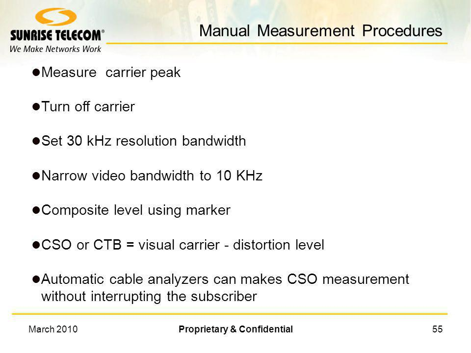 Manual Measurement Procedures