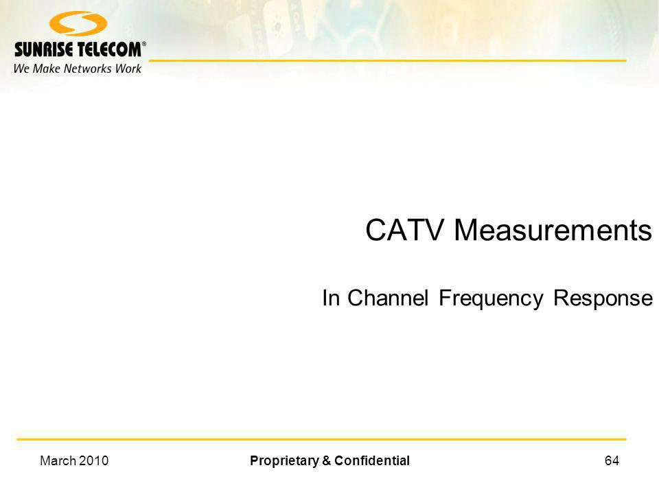 CATV Measurements In Channel Frequency Response