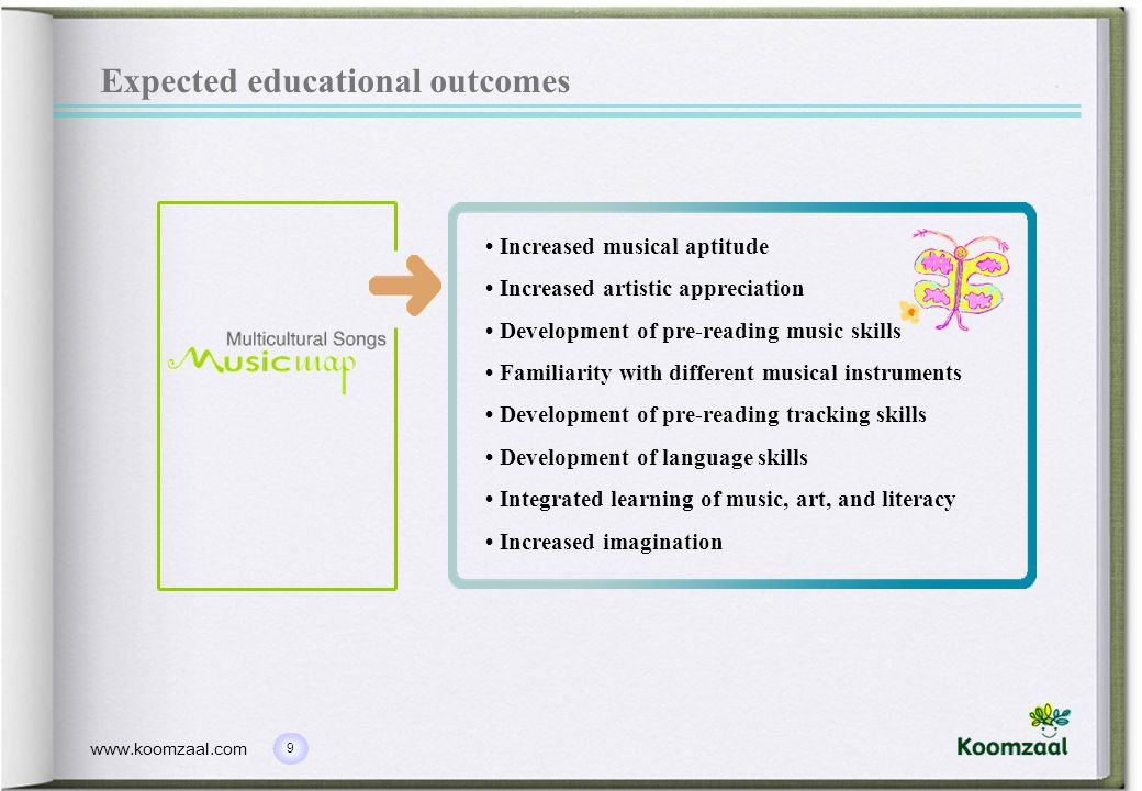 Expected educational outcomes