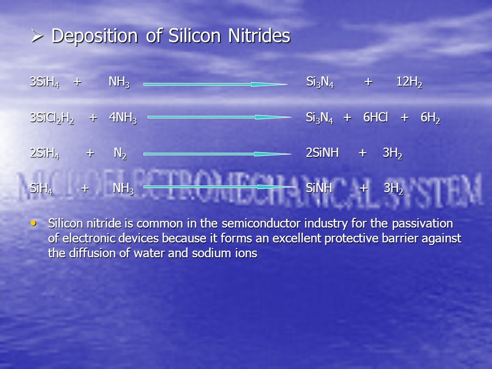 Deposition of Silicon Nitrides