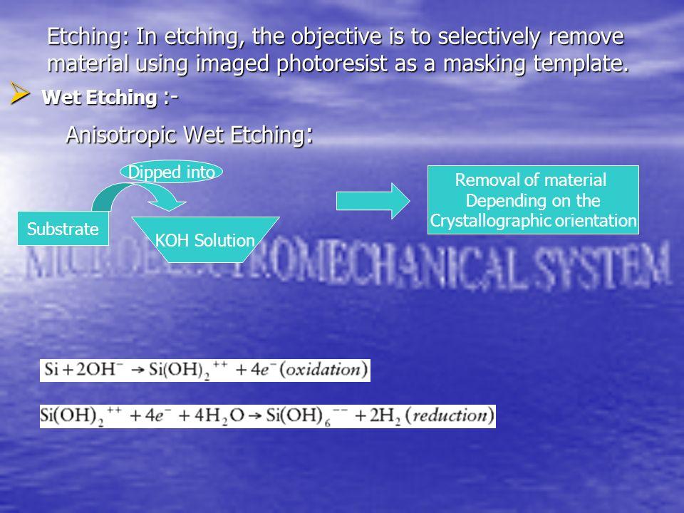 Crystallographic orientation