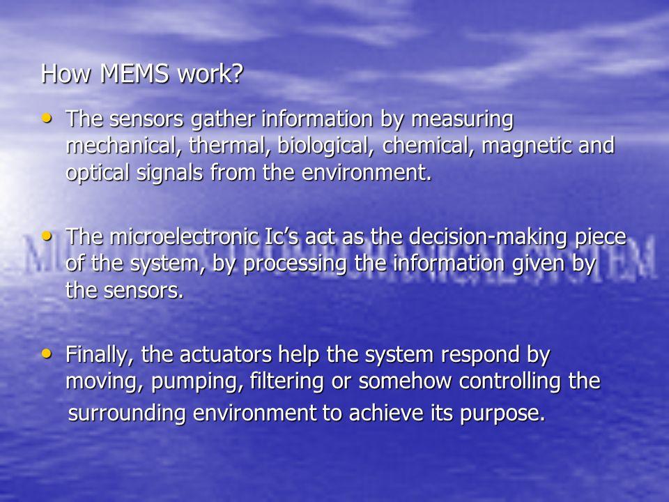 How MEMS work