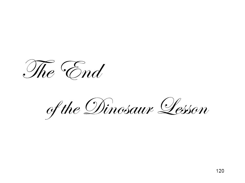 The End of the Dinosaur Lesson
