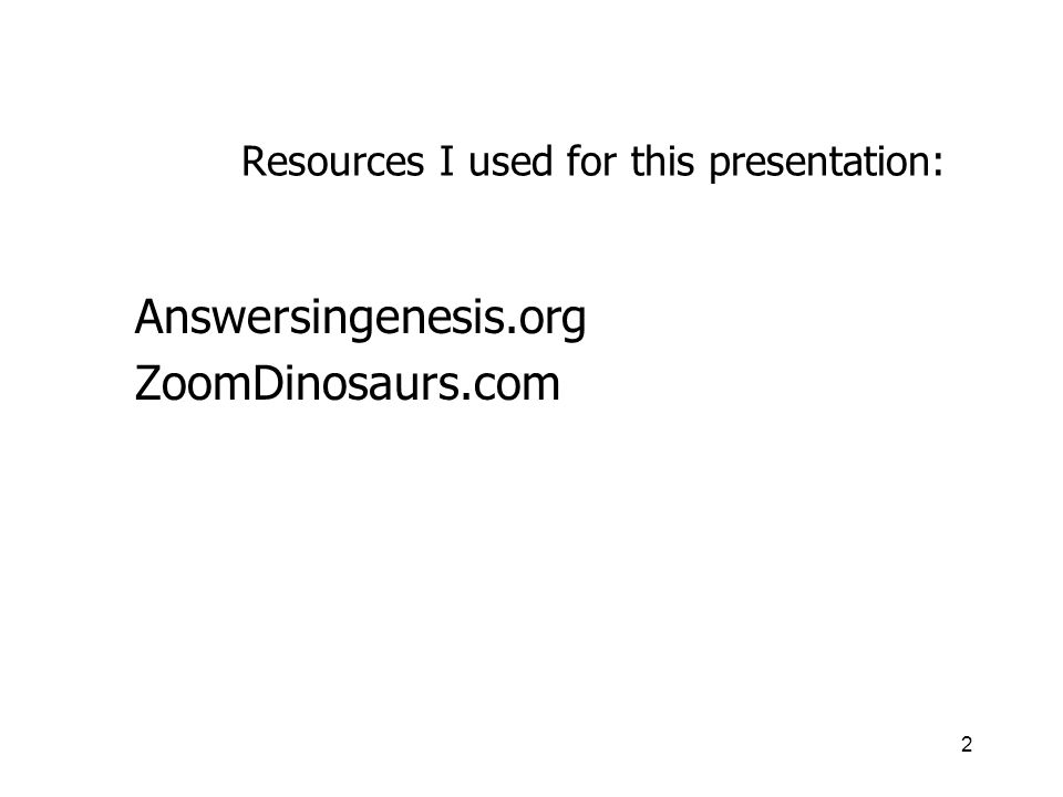 Resources I used for this presentation: