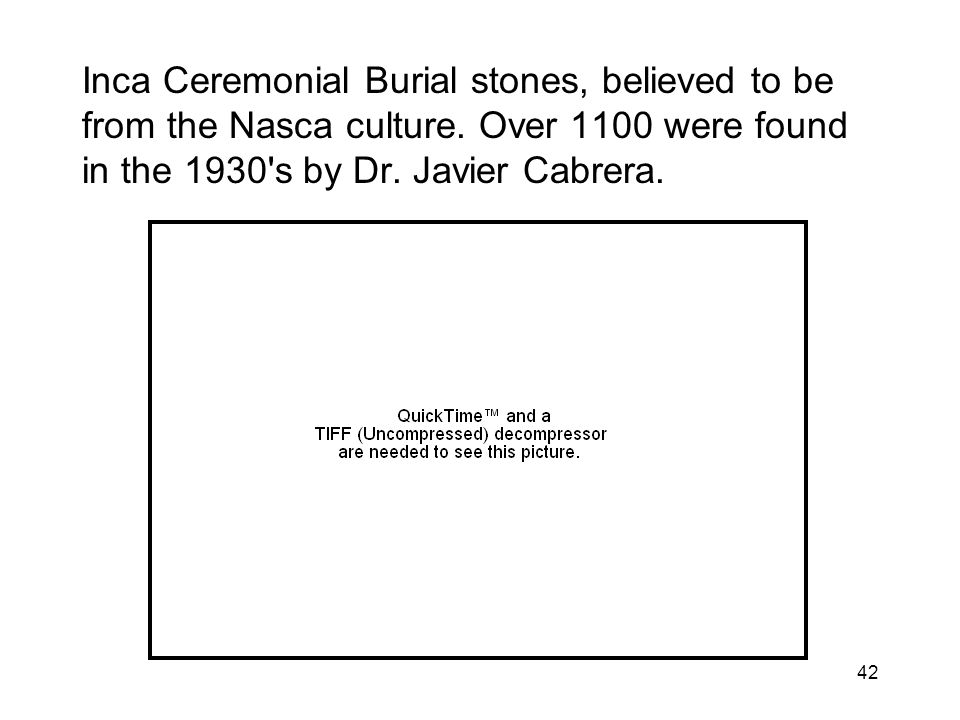 Inca Ceremonial Burial stones, believed to be from the Nasca culture