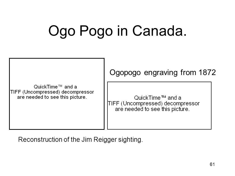 Ogo Pogo in Canada. Ogopogo engraving from 1872