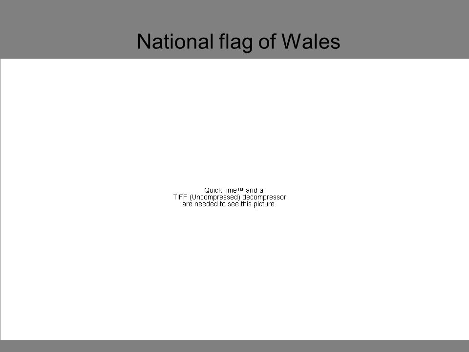 National flag of Wales Saint George lived in England in the 3rd